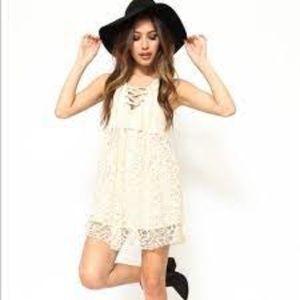 One Teaspoon Lace Lulu Dress Cream
